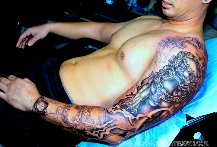 geisha and dragon tattoo